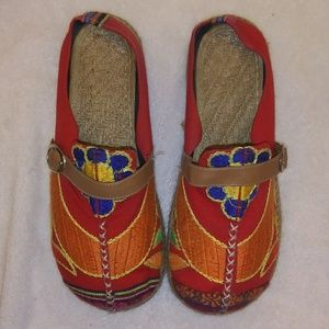 Shoes - Cutest woven clogs size 40 RED so sweet